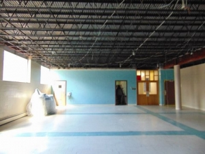 Dining room..ceiling tiles removed after abatement